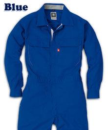 MA921 両胸ポケットファスナー付き薄手長袖ツナギ服