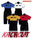 KR603 半袖ピットスーツ 形状安定、防縮・防シワ加工でお手入れ楽なつなぎ服