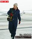 SW49000 手触りが良く柔らかな風合いの中綿防寒つなぎ服 便利なカーゴポケット付き