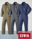 E-81010 EDWIN長袖ツナギ服 帯電防止素材 スマートデザイン