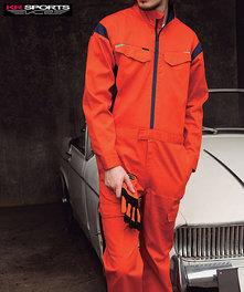 KR829 ラインデザインにメッシュで快適なスポーツライクツナギ服