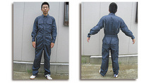 3304 長袖メッシュつなぎ服