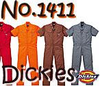 1411 ディッキーズ半袖つなぎ服