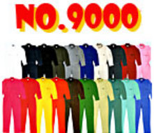 9000 長袖つなぎ服