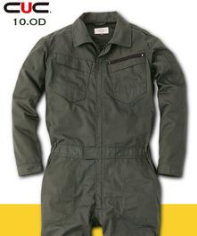 C-9310レディース長袖ツナギ服