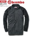 BR-235 ブレンボラミネートジップシャツ